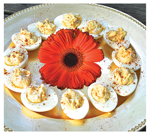 Coastal Flavors Palmetto Cheese Stuffed Deviled Eggs