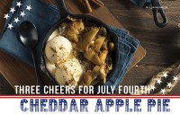 Three Cheers for July Fourth Cheddar Apple Pie