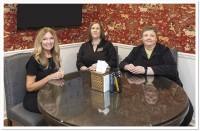 Missy Brown, Valerie Mayer and Lesley Babington