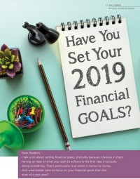 Have You Set Your 2019 Financial Goals?